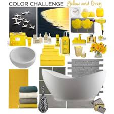 Grey And Yellow Bathroom Ideas Scintillating Gray And Yellow Bathroom Accessories Contemporary
