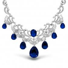 sapphire jewelry necklace images September birthstone jewelry cz sapphire rings earrings other jpg