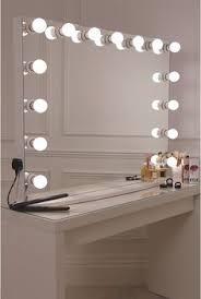 Bedroom Mirror Lights Glow Vanity Mirror With Led Bulbs Lullabellz Anas