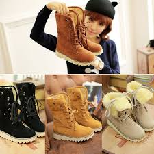 womens size 12 casual boots wish winter casual shoes s suede thicken warm ankle boots