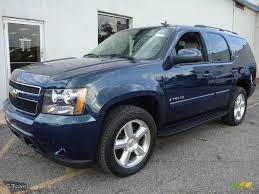 2007 Chevy Tahoe Ltz Interior 2007 Bermuda Blue Metallic Chevrolet Tahoe Ltz 4x4 12121587 Photo