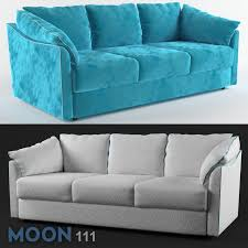 velvet sofa moon 111 in two colors 3d model cgtrader