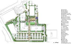 Amphitheater Floor Plan by Intersect Corporate Mixed Use Campus Landlab