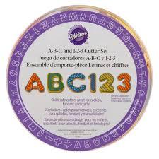 wilton 2304 1054 50 plastic abc 123 cookie cutter set
