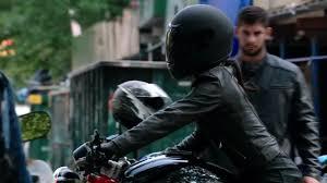 leather motorcycle gear actress janina gavankar in motorcycle gear youtube