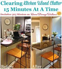 mission kitchen island how to declutter your kitchen island and keep it that way
