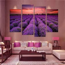 2017 modern wall art home decoration purple lavender large living