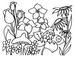 the brilliant spring flowers coloring pages pertaining to really
