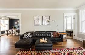 idée canapé idee deco salon canape noir avec deco canape noir fabulous idee deco