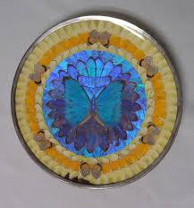 butterfly platter morpho plate deco blue irridescent morpho