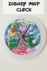 Disney Maps Diy Disney Map Clock Clever Pink Pirate