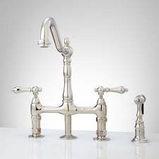 bridge style kitchen faucet vintage style kitchen sink faucet signature hardware