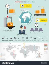 World Map Timeline by Airport World Map Infographic Element Can Stock Vector 272950307