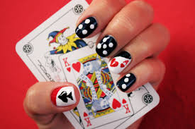 poker nails easy and fabulous nail design tutorial youtube