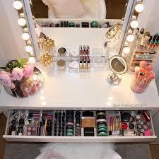 Makeup Table Furniture Makeup Desk With Lights Vanity Under 100 Vanity