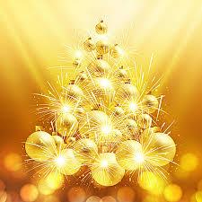 golden tree balls vector golden vector