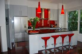 modern red kitchen bar counter stool designs trends4us com