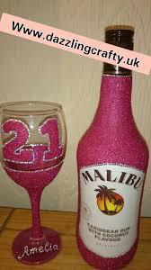 chagne gift set glitter wine glass gift box set painted glasses