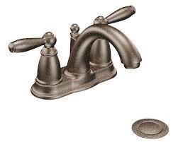 moen 6610orb brantford 2 handle lavatory faucet with drain