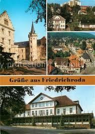 Ak Ansichtskarte Friedrichroda Blick Vom Herzogsweg Friedrichroda Zentrum Blick Vom Kirchturm Waldbad Platz Der Opfer