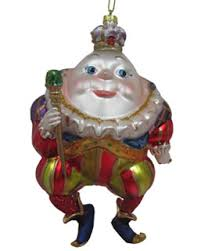 humpty dumpty with sceptor and crown personalized ornament