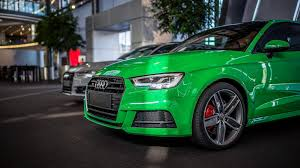 green porsche 2017 audi s3 3 door in porsche green is a purist u0027s car autoevolution