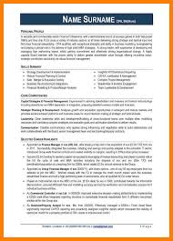 financial modelling resume 8 example of professional cv emt resume example of professional cv 6 jpg