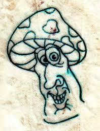 simple evil tattoo outline evil mushroom tattoo design