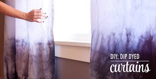 Purple Ombre Curtains Diy Dip Dyed Curtains The Chic Site