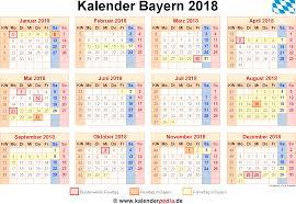 Kalender 2018 Bayern Gesetzliche Feiertage Kalender 2018 Bayern Ferien Feiertage Excel Vorlagen
