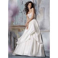 aline wedding dresses chiffon and lace strapless wide belt a line wedding dress