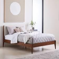 Modern Bed Frame Modern Show Wood Bed Wheat Twill West Elm