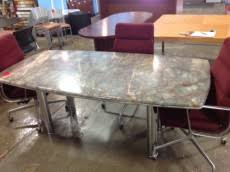 Marble Boardroom Table Racetrack 8 U2032 Conference Table Office Furniture Resources