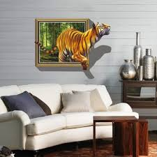 stickers nikon picture more detailed about hot hot vivid tiger jumping out jungle wall stickers home decor poster