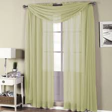 How To Hang A Drapery Scarf by Abripedic Rod Pocket Sheer Curtain
