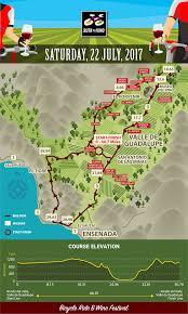 Ensenada Mexico Map by Ruta Del Vino Bike Ride