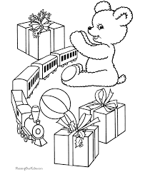 kid u0027s christmas coloring pages scenes giving