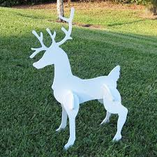 Outdoor Reindeer Decorations Christmas Sleigh And Reindeer Set
