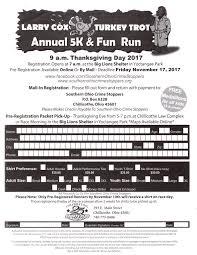 turkeytrot registration form 201720171116