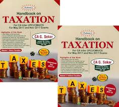 padhuka u0027s handbook on taxation for ca ipcc cma cs by ca g sekar