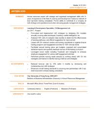 it consultant resume example learning development specialist cv ctgoodjobs powered by learning development specialist cv