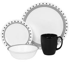 Corelle Clearance Decorating Square 16 Piece Corelle Dinnerware Set In White For
