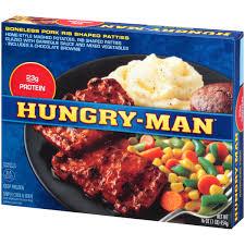 hungry man boneless pork frozen dinner 16 oz walmart com