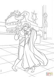 flynn rapunzel wedding dance coloring free printable