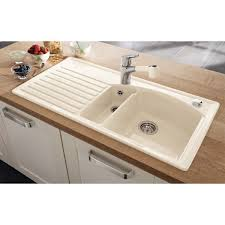 White Ceramic Kitchen Sink 1 5 Bowl Villeroy Boch Arcora 60 1010mm X 510mm 1 5 Bowl Classicline