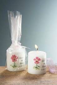 personalized candle floral personalized candle favors without crystals