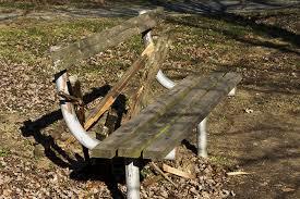 Old Park Benches Broken Park Bench By Essaredubya Dpchallenge