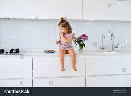 White On White Furniture Funny On Kitchen Dress Having Stock Photo 631070000
