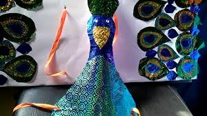 how to make peacock first prize winning fancy dress for kids youtube