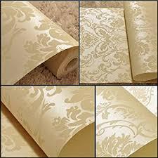 buy 10m wallpaper roll 4 colors embossed damask design flocked non